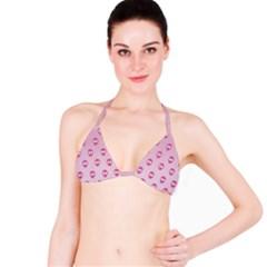 Alien Pattern Pink Bikini Top