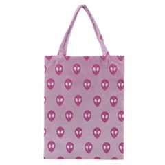 Alien Pattern Pink Classic Tote Bag