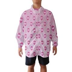 Alien Pattern Pink Wind Breaker (kids)