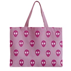 Alien Pattern Pink Mini Tote Bag
