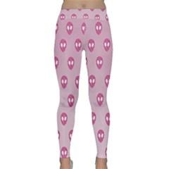 Alien Pattern Pink Classic Yoga Leggings