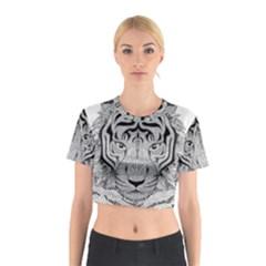 Tiger Head Cotton Crop Top