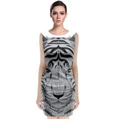 Tiger Head Classic Sleeveless Midi Dress