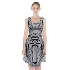 Tiger Head Racerback Midi Dress
