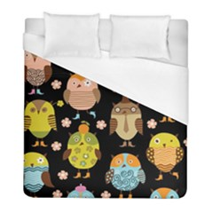 Cute Owls Pattern Duvet Cover (full/ Double Size)