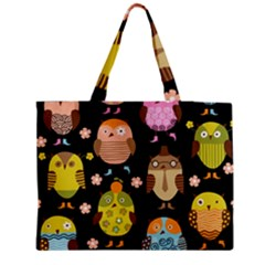 Cute Owls Pattern Medium Tote Bag