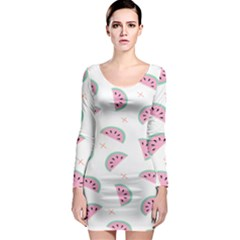 Watermelon Wallpapers  Creative Illustration And Patterns Long Sleeve Bodycon Dress
