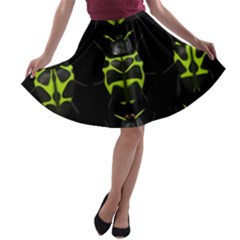 Beetles Insects Bugs A Line Skater Skirt