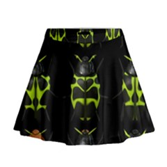 Beetles Insects Bugs Mini Flare Skirt