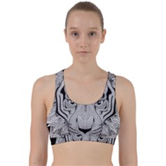 Tiger Head Back Weave Sports Bra
