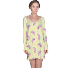 Watermelon Wallpapers  Creative Illustration And Patterns Long Sleeve Nightdress
