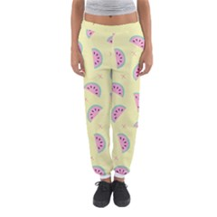 Watermelon Wallpapers  Creative Illustration And Patterns Women s Jogger Sweatpants