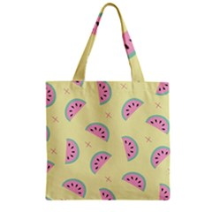 Watermelon Wallpapers  Creative Illustration And Patterns Zipper Grocery Tote Bag