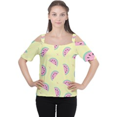 Watermelon Wallpapers  Creative Illustration And Patterns Cutout Shoulder Tee