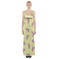 Watermelon Wallpapers  Creative Illustration And Patterns Maxi Thigh Split Dress