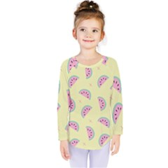 Watermelon Wallpapers  Creative Illustration And Patterns Kids  Long Sleeve Tee