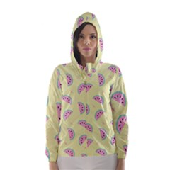 Watermelon Wallpapers  Creative Illustration And Patterns Hooded Wind Breaker (women)