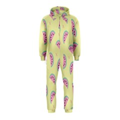 Watermelon Wallpapers  Creative Illustration And Patterns Hooded Jumpsuit (kids)