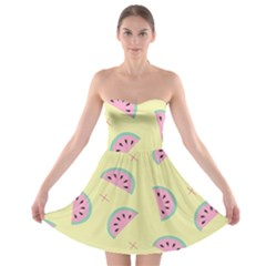 Watermelon Wallpapers  Creative Illustration And Patterns Strapless Bra Top Dress
