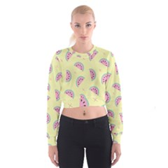 Watermelon Wallpapers  Creative Illustration And Patterns Cropped Sweatshirt