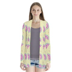 Watermelon Wallpapers  Creative Illustration And Patterns Drape Collar Cardigan