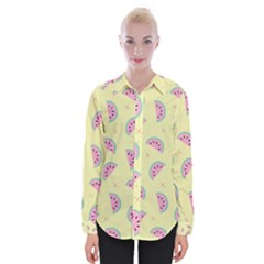 Watermelon Wallpapers  Creative Illustration And Patterns Womens Long Sleeve Shirt