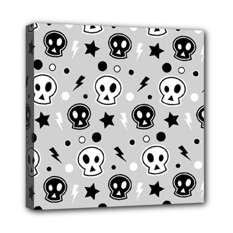 Skull Pattern Mini Canvas 8  X 8