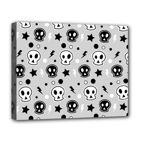 Skull Pattern Deluxe Canvas 20  X 16