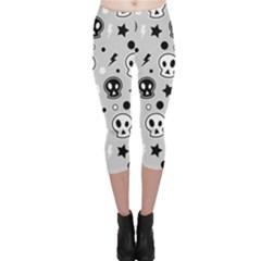 Skull Pattern Capri Leggings