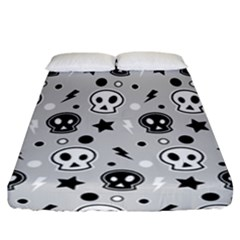Skull Pattern Fitted Sheet (california King Size)