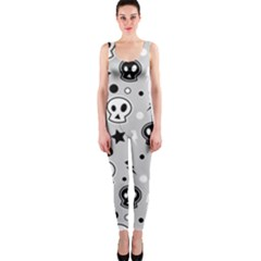 Skull Pattern Onepiece Catsuit