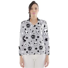 Skull Pattern Wind Breaker (women)