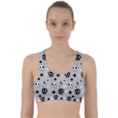 Skull Pattern Back Weave Sports Bra