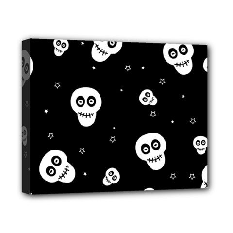 Skull Pattern Canvas 10  X 8