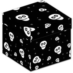 Skull Pattern Storage Stool 12
