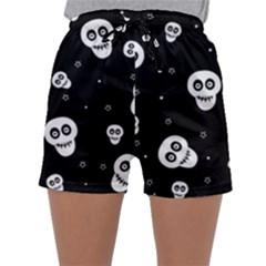 Skull Pattern Sleepwear Shorts