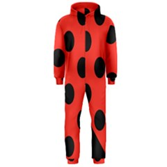 Abstract Bug Cubism Flat Insect Hooded Jumpsuit (men)