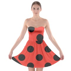 Abstract Bug Cubism Flat Insect Strapless Bra Top Dress