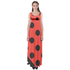 Abstract Bug Cubism Flat Insect Empire Waist Maxi Dress