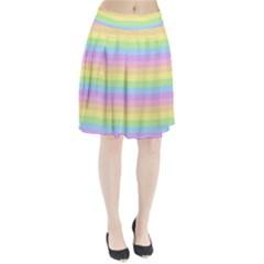 Cute Pastel Rainbow Stripes Pleated Skirt