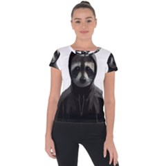 Gangsta Raccoon  Short Sleeve Sports Top