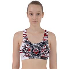 Skull Tribal Back Weave Sports Bra