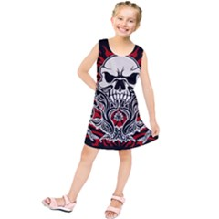 Skull Tribal Kids  Tunic Dress