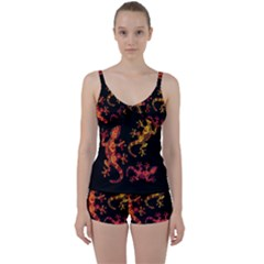 Ornate Lizards Tie Front Two Piece Tankini