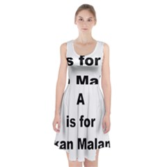 A Is For Alaskan Malamute Racerback Midi Dress