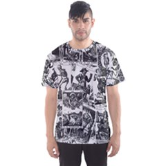 Tarot Cards Pattern Men s Sports Mesh Tee