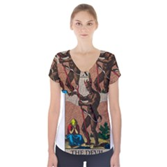 The Devil   Tarot Short Sleeve Front Detail Top