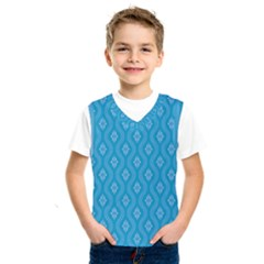 Blue Ornamental Pattern Kids  Sportswear