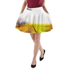 Landscape A Line Pocket Skirt
