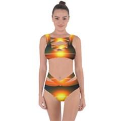 Landscape Bandaged Up Bikini Set